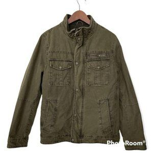 G H Bass and Co canvas jacket with quilted lining size small